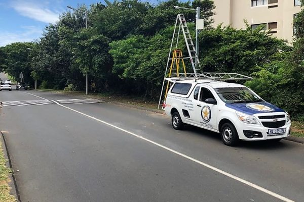 Number plate recognition CCTV cameras installed in uMhlanga Rocks
