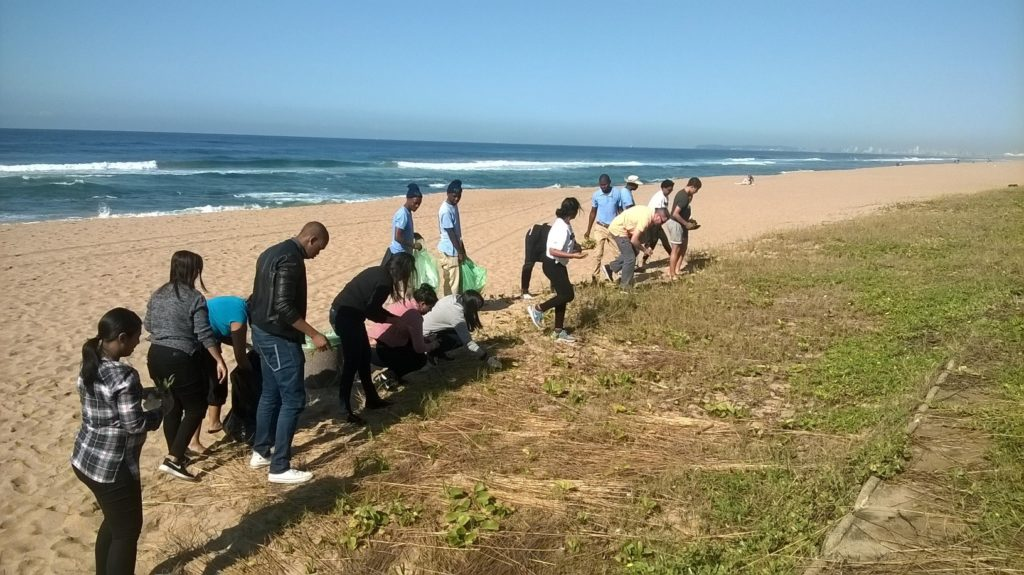 volunteer clean up in uMhlanga lagoon and promenade