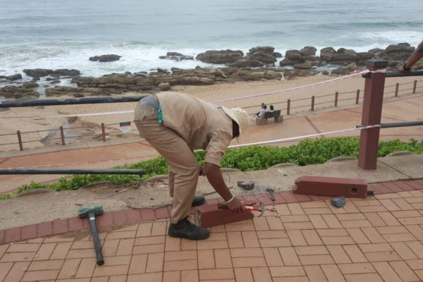 repairs to railing umhlanga promenade