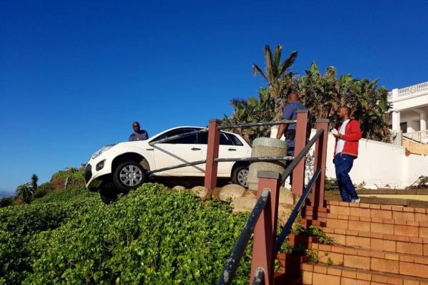 uMhlanga promenade railing vehicle accident