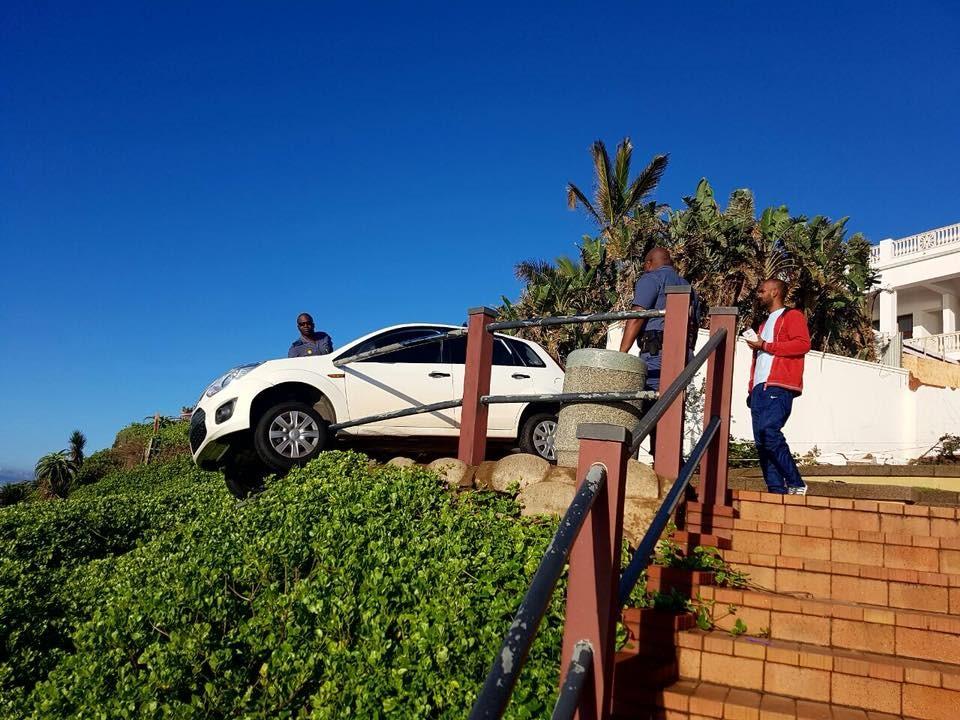 uMhlanga promenade railing vehicle accident