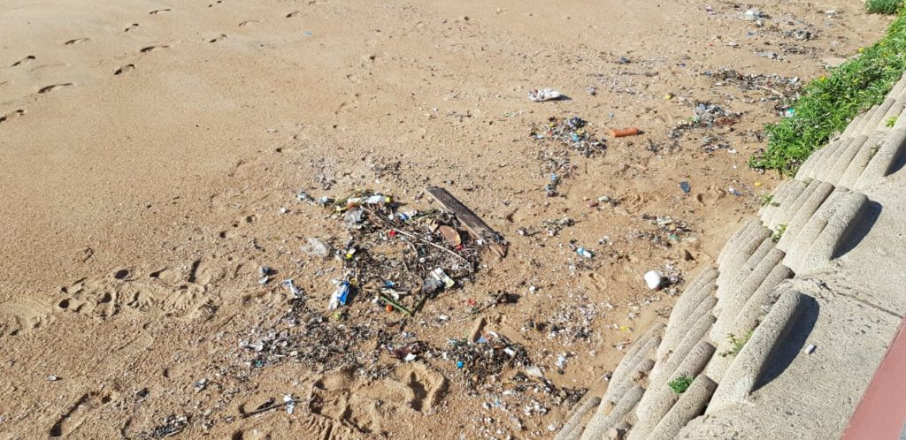 Heavy Rainfall Led To Increased Litter On Beaches