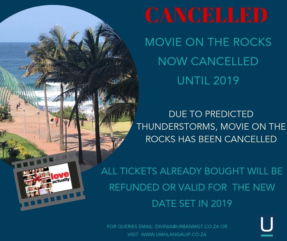 Movie On The Rocks Cancelled Until 2019