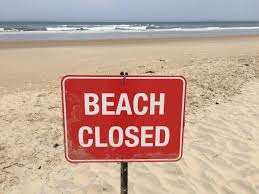Heavy Rains Result In Beach Closure